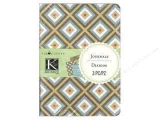 "Journals: K&Company Journals Tim Coffey Travel 4""x 5.5"" 3pc"