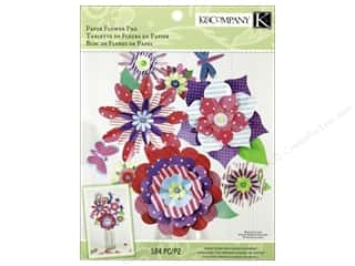 Flowers Papers: K&Company Kits Woodland Valentine Paper Flower Crafting Pad