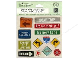 Felting 13 in: K&Company Stickers Tim Coffey Travel Clearly Yours Road Sign