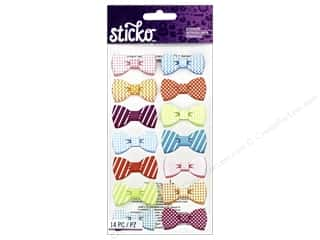 Scrapbooking EK Sticko Stickers: EK Sticko Stickers Pattern Bows