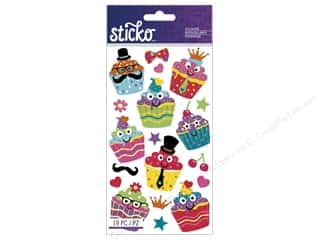 Gifts Party & Celebrations: EK Sticko Stickers Dress-Up Cupcakes