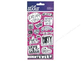 Scribbles Black: EK Sticko Stickers Teen Chat