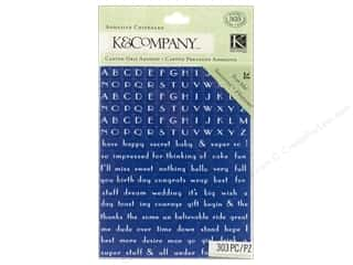 Stickers Lily: K&Company Adhesive Chipboard Lily Ashbury Indigo Garden Alphabet