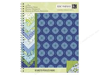 "Clearance Blue: K&Company Paper Pad Lily Ashbury Indigo Garden 8.5""x 11"" Designer"