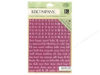 Stickers Lily: K&Company Adhesive Chipboard Lily Ashbury Raspberry Lemonade Alphabet