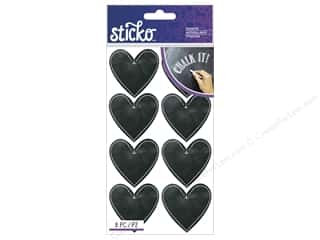 Valentine's Day Gifts Candlemaking: EK Sticko Stickers Chalk Hearts