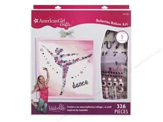 Craft & Hobbies Children: American Girl Ballerina Button Art Kit