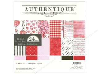 Love & Romance paper dimensions: Authentique Paper Pad 12 x 12 in. Smitten