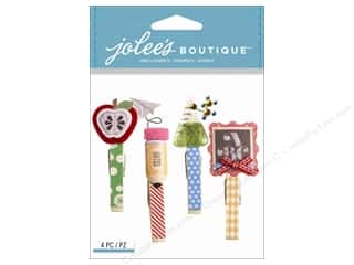 School Black: Jolee's Boutique Stickers School Clips