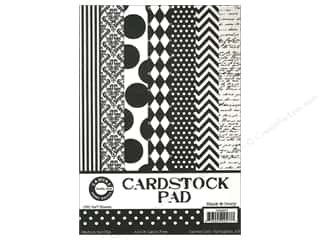 Papers Printed Cardstock: Canvas Corp 5 x 7 in. Cardstock Pad Black & Ivory Prints
