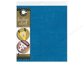 Canvas Corp Sheet 12x12 Burlap Teal (10 piece)