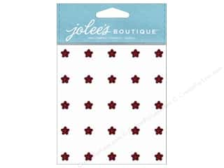 EK Success Rhinestones: Jolee's Boutique Stickers Mini Flower Gems Ruby