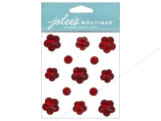 theme stickers  floral: Jolee's Boutique Stickers Floral Prizm Ruby