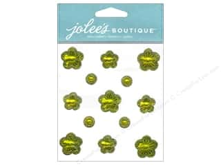 theme stickers  floral: Jolee's Boutique Stickers Floral Prizm Citrine