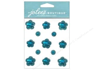 theme stickers  floral: Jolee's Boutique Stickers Floral Prizm Sapphire