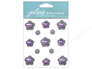 theme stickers  floral: Jolee's Boutique Stickers Floral Prizm Amethyst
