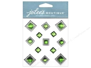 EK Success Rhinestones: Jolee's Boutique Stickers Pyramid Gem Emerald