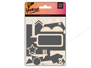 BasicGrey Wood Veneer Shapes Highline Chalkboard