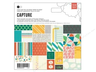 BasicGrey Designer Papers & Cardstock: BasicGrey Paper Pad 6 x 6 in. Capture 36 pc.