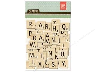 BasicGrey Chipboard Alphabet Stickers Capture
