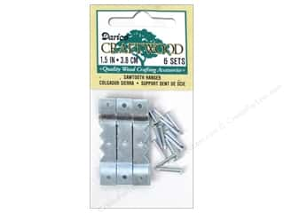 Hardware Hardware Hangers: Darice Sawtooth Hangers 1 1/2 in. Nickel 6 pc.
