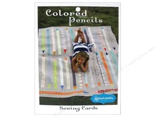 General Pencil Sewing Construction: Stitchin' Post Colored Pencils Sewing Card Pattern