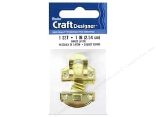 Hardware inches: Darice Class Button Set 1 in. Brass 1 pc.