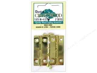 "Darice Hardware Hinge 1 5/8"" Brass 2 Set"