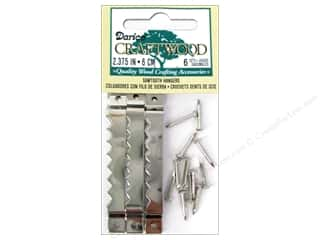 Darice Sawtooth Hangers 2 3/8 in. Nickle 6 set
