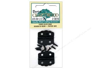 "Darice Hardware Hinge 7/8"" Black Curved 2 Set"