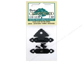 Darice Class Button 1 1/2 in. Curved Black 1 set