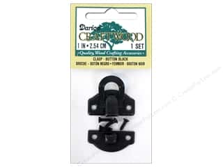 Darice Clasp Button 1 in. Black 1 set