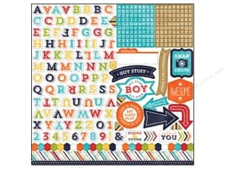 "Echo Park Paper Company Alphabet Stickers: Echo Park Sticker 12""x 12"" That's My Boy Alphabet (15 sets)"