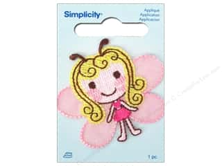Wrights Iron-On Appliques: Simplicity Iron On Applique Butterfly Girl
