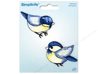 Appliques Blue: Simplicity Iron On Applique Blue Birds