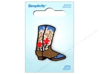 Simplicity Iron On Applique Cowboy Boot