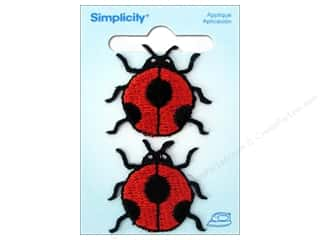 Simplicity Trim Black: Simplicity Iron On Applique Large Ladybug