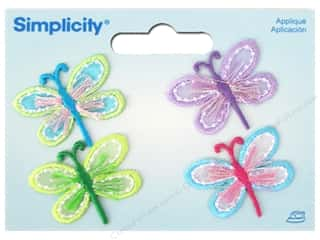 Simplicity Appliques Iron On Dragonflies