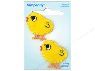 Simplicity Trim $0 - $4: Simplicity Iron On Applique Chicks