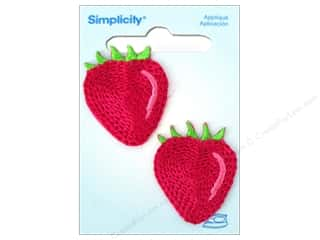 Fruit & Vegetables Length: Simplicity Iron On Applique Strawberry