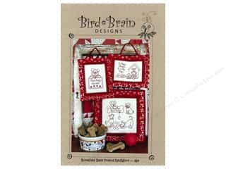 "Bird Brain Design 4"": Bird Brain Designs Bonefied Best Friend RedWork Pattern"