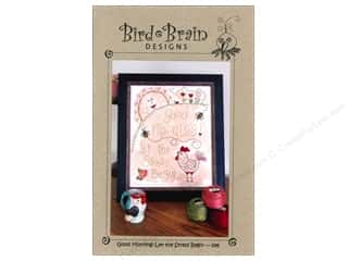 Bird Brain Design Stitchery, Embroidery, Cross Stitch & Needlepoint: Bird Brain Designs Good Morning! Let The Stress Begin Pattern