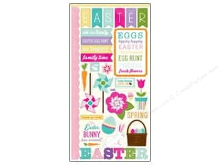 "Easter $6 - $12: Echo Park Sticker Hippity Hoppity 6""x 12"" (15 sets)"