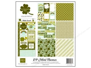 St. Patrick's Day Bazzill Cardstock: Echo Park 12 x 12 in. St Patrick's Day Collection Kit