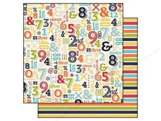Echo Park Paper Company ABC & 123: Echo Park 12 x 12 in. Paper That's My Boy Collection Numbers (25 pieces)