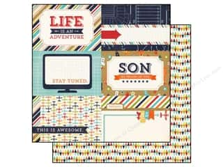 Echo Park 12 x 12 in. Paper That's My Boy Adventure (25 piece)