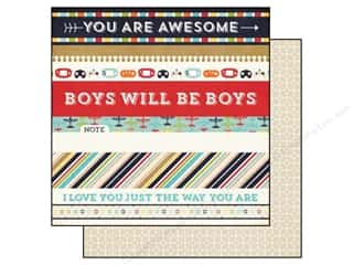 Echo Park 12 x 12 in. Paper That's My Boy Border Strips (25 piece)