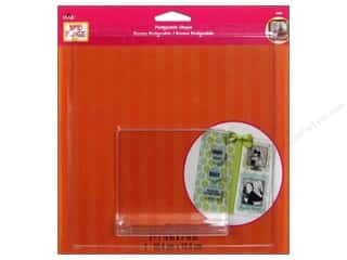 "Stands Acrylic Stands / Plastic Stands: Plaid Mod Podge Podgeable Shape Styrene 7.25""x 7.25"""