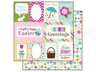 Papers Easter: Echo Park 12 x 12 in. Paper Hippity Hoppity Collection Easter Journaling (15 pieces)
