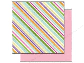 Clearance Blumenthal Favorite Findings: Echo Park 12 x 12 in. Paper Hippity Hoppity Stripe (15 piece)